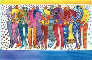 Laurel Burch People Hearts