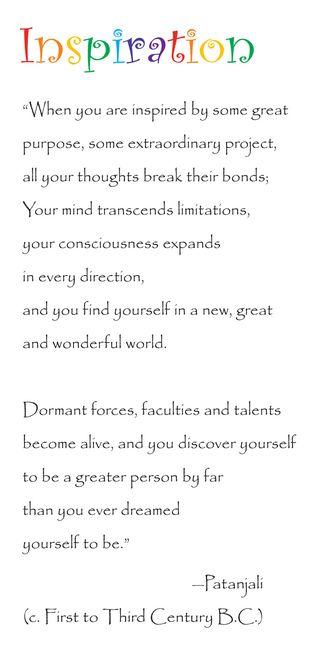 Inspiration Quote Patanjali