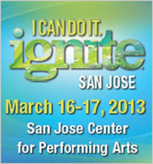 I CAN DO IT ignite San Jose 2013 blue